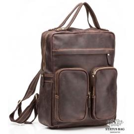 Рюкзак кожаный Tiding Bag  G2107B