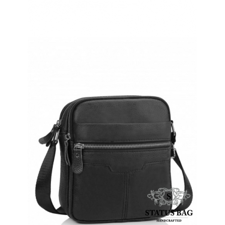 Сумка через плечо мужская черная Tiding Bag A25F-6625A