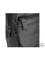 Мужская сумка-слинг через плечо гладкая кожа темный шоколад Tiding Bag A25F-003DB фото №5