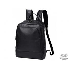 Мужской черный кожаный рюкзак Tiding Bag A25F-11685A