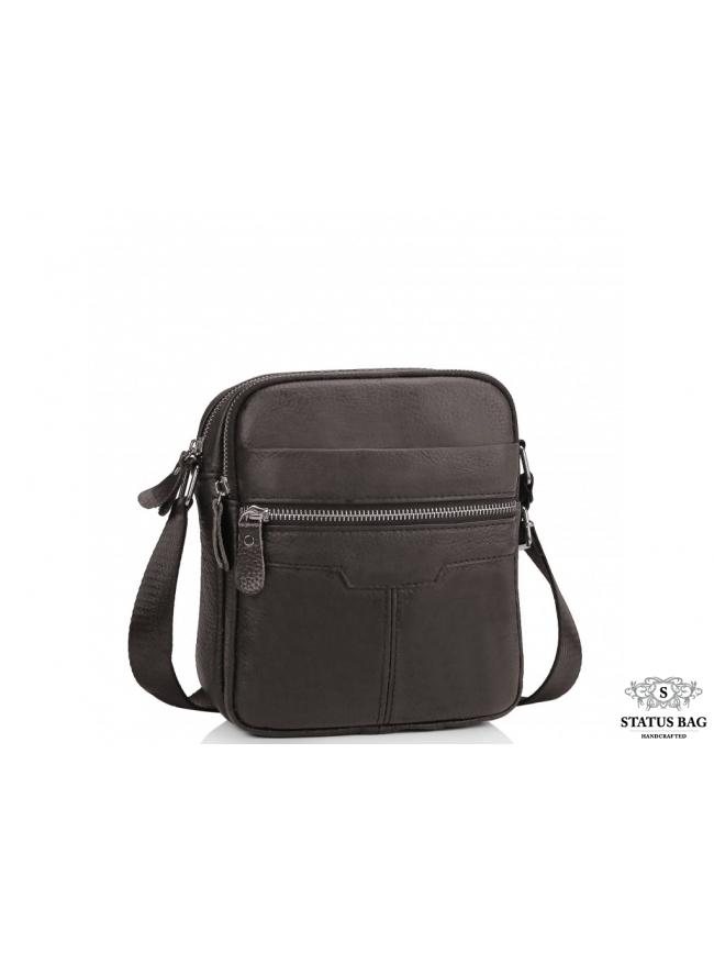 Сумка через плечо мужская коричневый Tiding Bag A25F-6625B