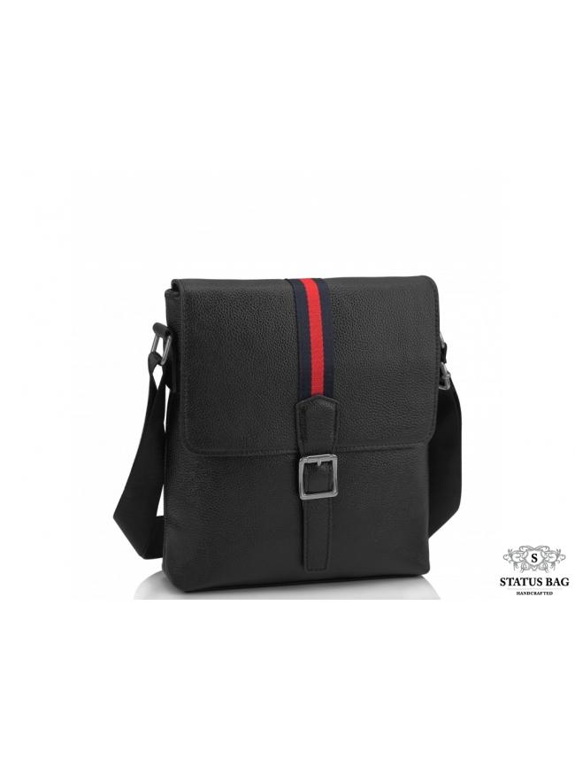 Мужская сумка через плечо с клапаном натуральная кожа Tiding Bag A25F-98085A