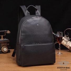 Черный кожаный рюкзак F-5604-8A