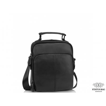 Сумка-барсетка через плечо мужская черная Tiding Bag M35-0118A