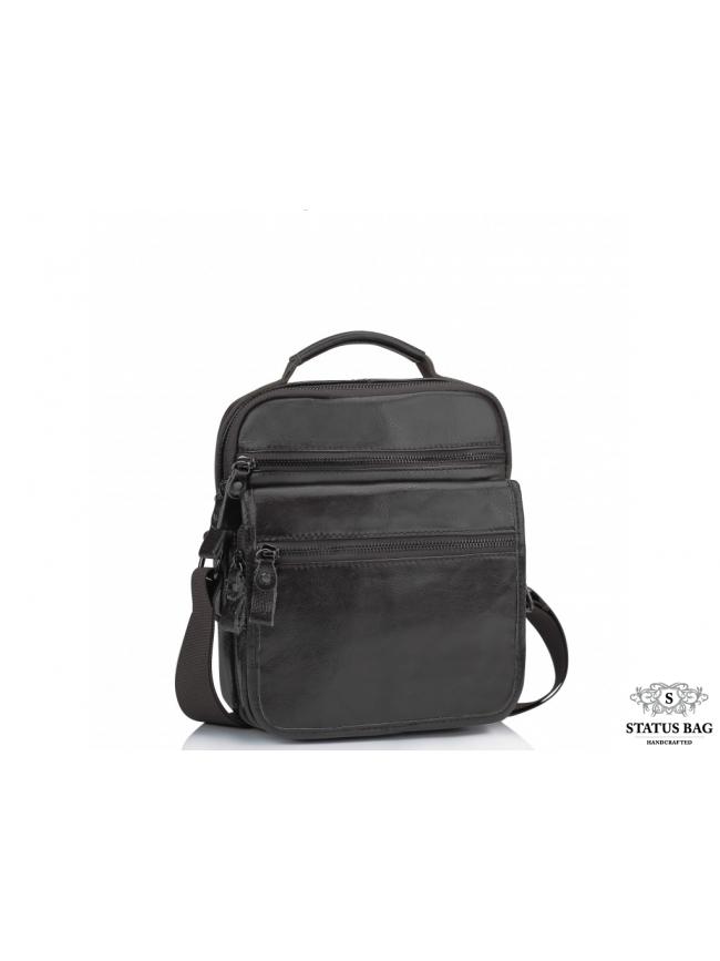 Сумка-барсетка через плечо мужская коричневая Tiding Bag M35-8852В