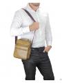 Мужская кожаная сумка через плечо коричневая Tiding Bag M35-8852LB фото №2