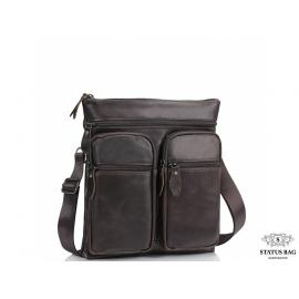 Сумка через плечо мужская коричневая Tiding Bag M35-9012B