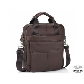 Мужская кожаная сумка с ручками и съемным ремнем Tiding Bag M38-8861B