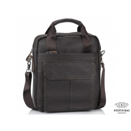 Мужская кожаная сумка с ручками и съемным ремнем Tiding Bag M38-8861DB