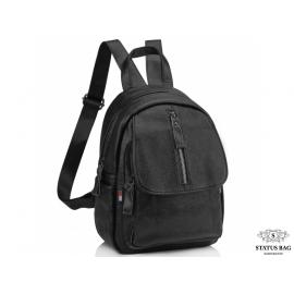 Женский кожаный городской рюкзак черный Olivia Leather NWBP27-6630A
