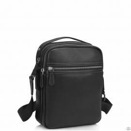 Сумка через плечо мужская черная Tiding Bag SM8-9039-4A