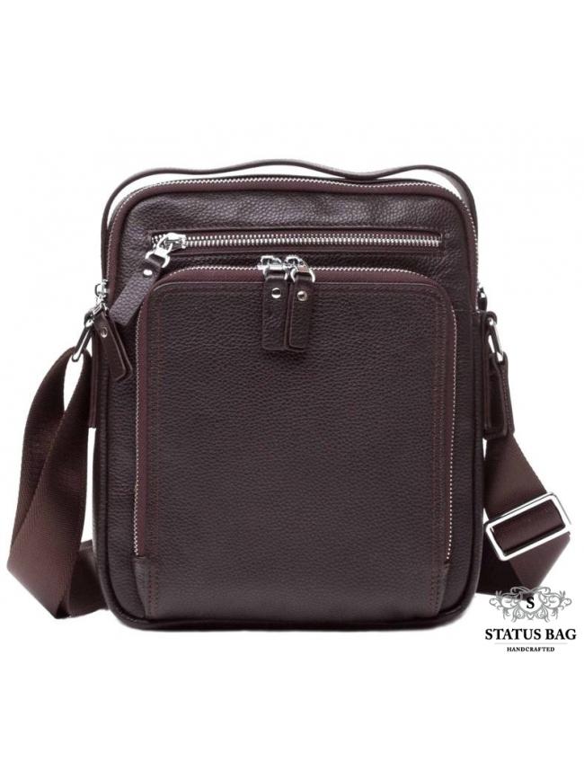 Кожаный мессенджер Tiding Bag M5608-1C