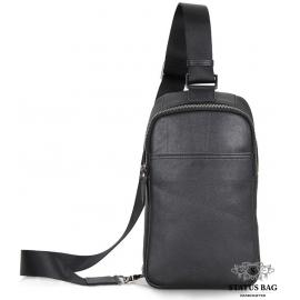 Сумка на грудь мужская кожаная слинг Tiding Bag 4001A