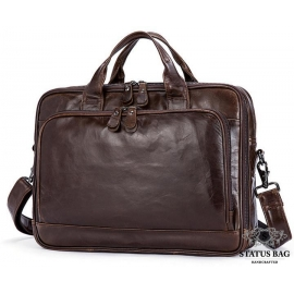 Мужская кожаная сумка для документов и ноутбука Jasper&Maine 7005Q