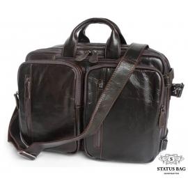 Сумка-трансформер рюкзак мужской кожаный Jasper&Maine 7014Q-2