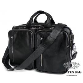 Мужская кожаная сумка-трансформер 3 в 1 Jasper&Maine 7041A