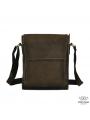 Мужская сумка-мессенджер через плечо из матовой винтажной кожи Tiding Bag 7055DB фото №6