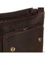 Мужская сумка-мессенджер через плечо из матовой винтажной кожи Tiding Bag 7055DB фото №2