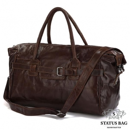 Дорожная мужская  компактная сумка телячья кожа J&M 7079Q