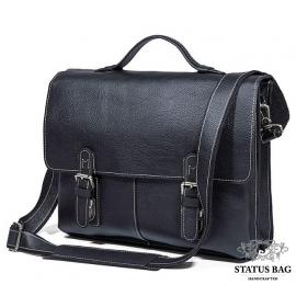 Мужской кожаный портфель для ноутбука TIDING BAG 7090A