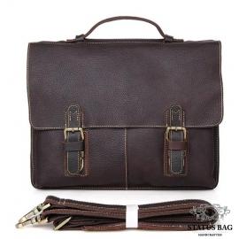 Качественная сумка-портфель мужская кожаная TIDING BAG 7090R