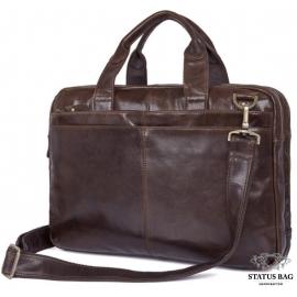 Винтажная мужская кожаная сумка для документов и ноутбука Tiding Bag 7092-3C