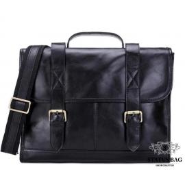 Мужской кожаный портфель TIDING BAG 7101A