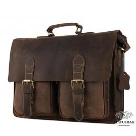 Мужской кожаный портфель TIDING BAG 7105B