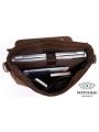 Сумка мужская кожаная через плечо для ноутбука Tiding Bag 7108R-1 фото №12
