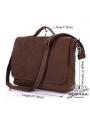 Сумка мужская кожаная через плечо для ноутбука Tiding Bag 7108R-1 фото №6