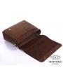 Сумка мужская кожаная через плечо для ноутбука Tiding Bag 7108R-1 фото №5