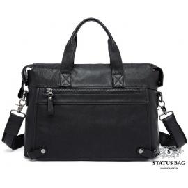 Мужская деловая кожаная сумка Jasper & Maine 7120A-1