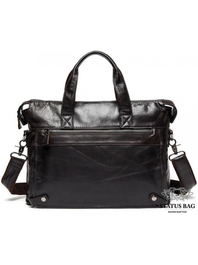 Мужская кожаная сумка для документов кофейная Jasper & Maine 7120C-2