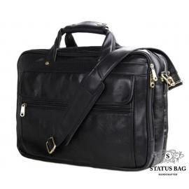 Мужская кожаная сумка-портфель на три отдела для документов и ноутбука Jasper & Maine 7146A