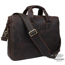 Стильная мужская сумка для документов лошадиная кожа Tiding Bag 7167R