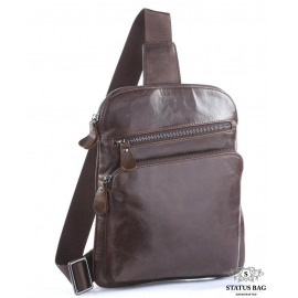Мужской кожаный рюкзак-слинг на одно плечо Tiding Bag 7195C