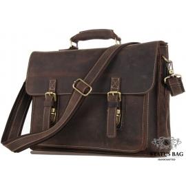 Портфель мужской кожаный в винтажном стиле Tiding Bag 7205R