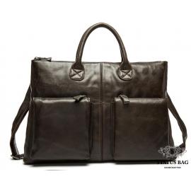 Мужская сумка А4 натуральная кожа Tiding Bag 7241C