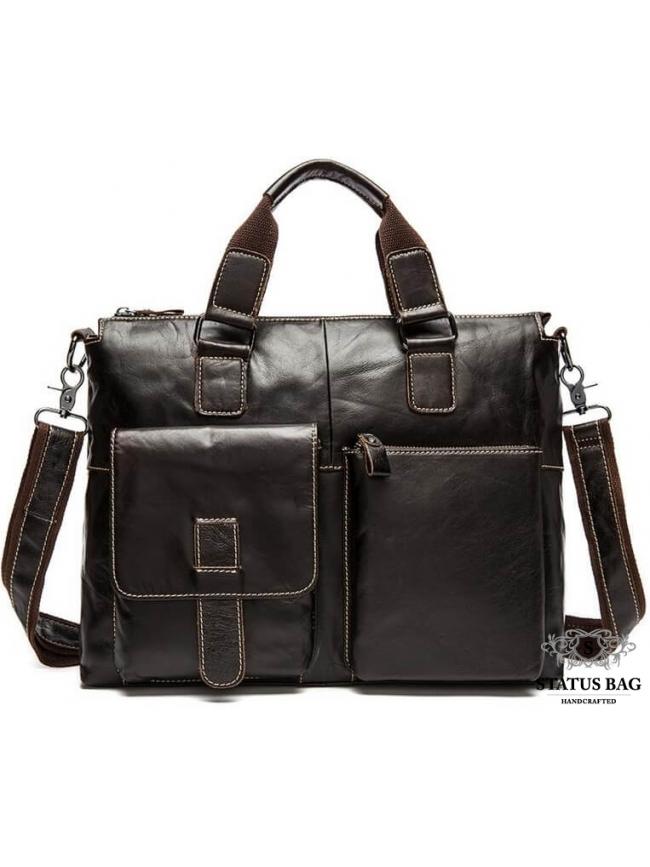Повседневная мужская сумка из кожи для документов Tiding Bag 7264C