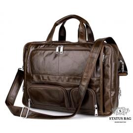 Большая деловая мужская кожаная сумка для поездок Jasper&Maine 7289C
