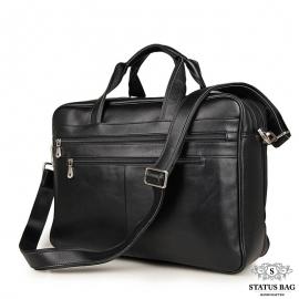 Вместительная деловая сумка-портфель для документов и ноутбука 17 дюймов Jasper&Maine 7319A