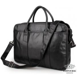 Сумка-портфель деловая из натуральной кожи мужская Jasper&Maine 7321A
