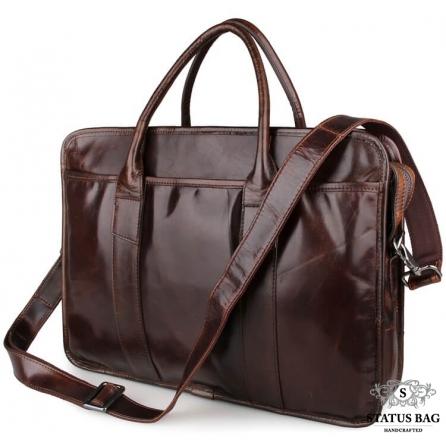 Портфель мужской кожаный для ноутбука и документов Jasper&Maine 7321C