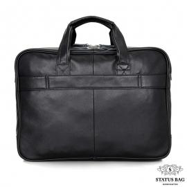Мужская кожаная сумка-портфель для деловых поездок Tiding Bag 7367A