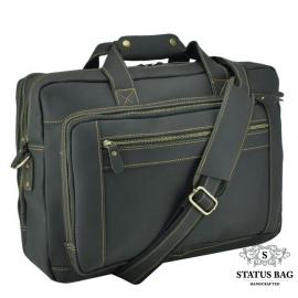 Мужская кожаная деловая сумка для поездок много отделов Tiding Bag 7367RA