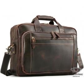 Мужская кожаная деловая сумка для поездок  Tiding Bag 7367R
