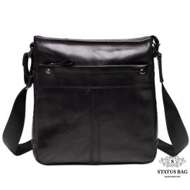 Мужская сумка через плечо из гладкой натуральной кожи Tiding Bag 8030A