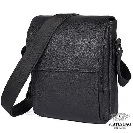 Мужская кожаная сумка с клапаном через плечо Tiding Bag 9811A