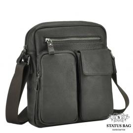 Мужская кожаная сумка через плечо с карманами Tiding Bag 9812-1C