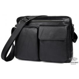 Мужская сумка-мессенджер через плечо из натуральной кожи Tiding Bag 9812A